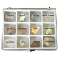 Collection de 12 Minéraux Bruts