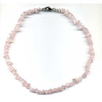 Collier quartz rose 42 cm baroque