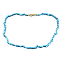 Collier howlite Turquoise 40 cm baroque