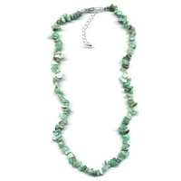Collier chrysoprase 40 cm baroque