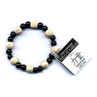 Bracelet perles de karma en Onyx