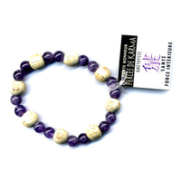 Bracelet perles de karma en Améthyste