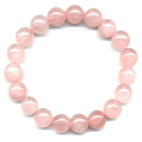 Bracelet en Quartz Rose boules 10 mm