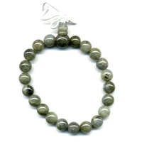Mala tibétain 21 graines Power Bracelet Labradorite boule 8 mm