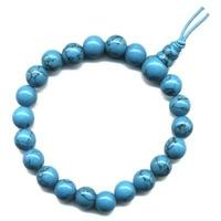 Mala tibétain 21 graines Power Bracelet Howlite turquoise boule 8 mm
