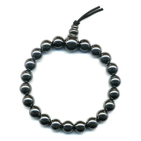 Mala tibétain 21 graines Power Bracelet hématite boule 8 mm