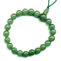 Mala tibétain 21 graines Power Bracelet Aventurine boule 8 mm