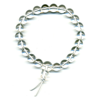 Mala tibétain 21 graines Power Bracelet Cristal de roche boules 8mm