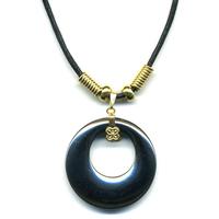 Collier hématite anneau