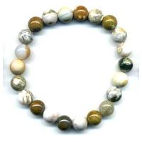 Bracelet en jaspe ocean boules 8mm