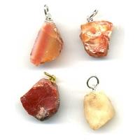 Pendentif opale de feu brute