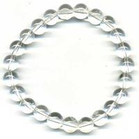 Bracelet en cristal de roche boules   8mm