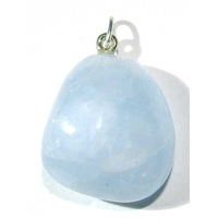 Pendentif Calcite Bleue Extra bélière argent simple
