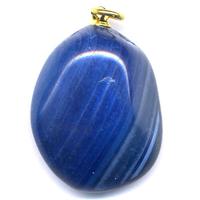 Pendentif agate bleue