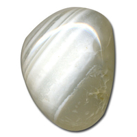 Agate Blanche de 25 à 30mm - Lot de 5
