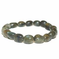 Bracelet pierres roulées en labradorite