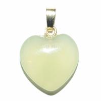 Pendentif Jade 15 mm en Petit Coeur