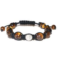 Bracelet Shamballa Oeil de tigre 10 mm