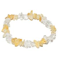 Bracelet baroque duo Citrine et Cristal de roche