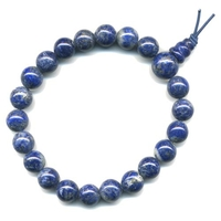 Mala tibétain 21 graines Power Bracelet Lapis lazuli boule 8 mm
