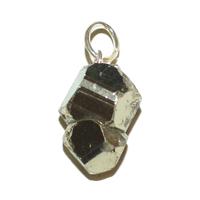 Pendentif Pyrite en forme de dodécaèdre naturelle