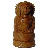 Bouddha Tibétain en bois de Santal 8 cm