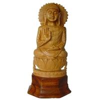 Bouddha Tibétain en bois de Santal 13 cm