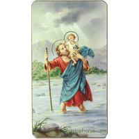 Image religieuse Saint Christophe 7x4cm