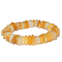 Bracelet Disque en Calcite orange