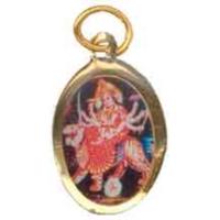 Durga dorŽ avec photo couleur ovale 20 mm