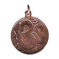 """La médaille des Divinités """"OM"""" cuivré hypoallergénique 20mm"""