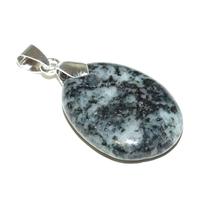 Pendentif Diorite orbiculaire mini pierre plate