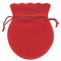 Pochette en velour rouge 12x10cm