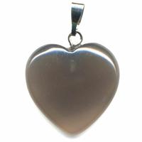 Pendentif Agate naturelle 20mm en Coeur