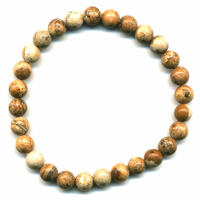 Bracelet en Jaspe paysage boules 6mm