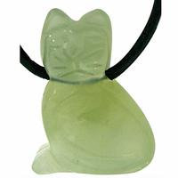Pendentif jade en Chat de 25mm