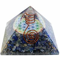 Pyramide Orgonite Fleur de Vie de 7 cm