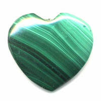 Malachite en forme de coeur de 25mm.
