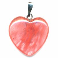 Pendentif Quartz fraise 20mm en Coeur