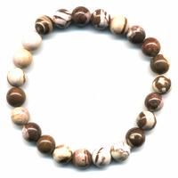 Bracelet en Jaspe brun boules 8mm