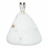 Pendentif Opale blanche Extra Bélière en Argent Choix B