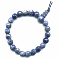 Mala tibétain 21 graines Power Bracelet Sodalite boule 8 mm