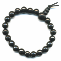 Mala tibétain 21 graines Power Bracelet Shungite boule 8 mm