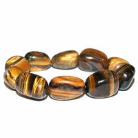 Bracelet pierres roulées en Oeil de tigre MAXI