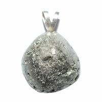 Pendentif Pyrite naturelle Extra Bélière argent