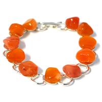 Bracelet chaîne cornaline 19cm