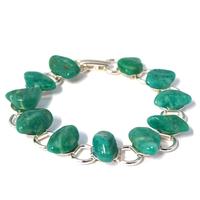 Bracelet chaîne amazonite de Russie 19cm