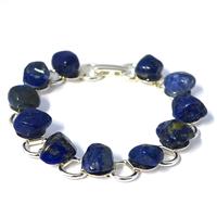 Bracelet chaîne lapis lazuli 19cm