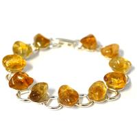 Bracelet chaîne citrine 19cm