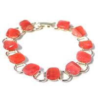 Bracelet chaîne rhodochrosite 19cm